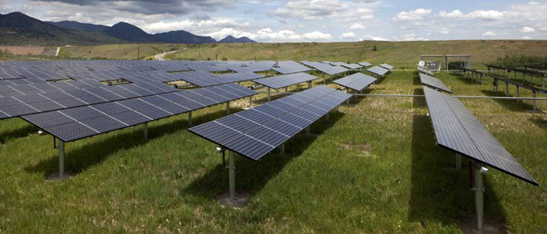 Solar Panels in CO Rocky Mountains
